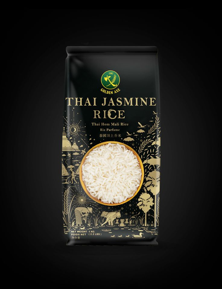 Golden Axe Thai Jasmine Rice on Behance