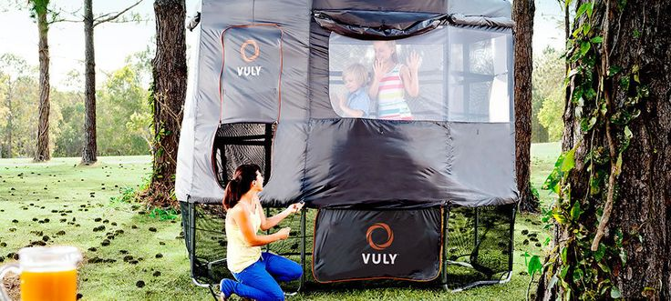 Trampoline Tent: The Ultimate Cubby House - Vuly Classic - Vuly Trampolines Australia  For the best  Trampolines  Go to  https://www.froggiestrampolines.com.au