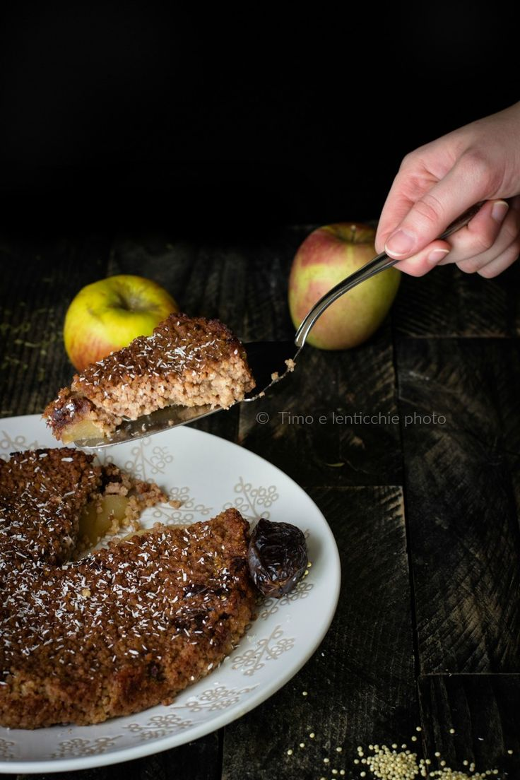 Torta di miglio mele e datteri senza zucchero   Timo e lenticchie