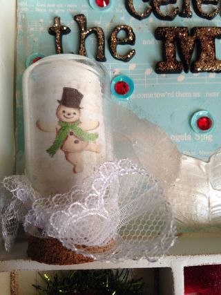 White box frosty dome