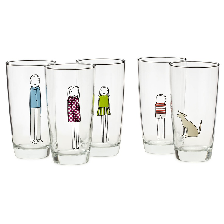 CUSTOM FAMILY GLASSWARE | Personalized Drinking Glasses | UncommonGoods
