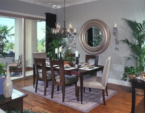Light blue and brown dining room google search formal for Light blue dining room ideas