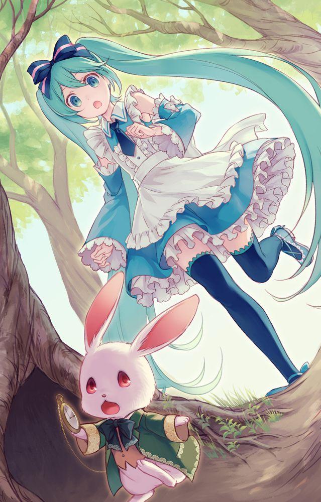 Artist: Momora   VOCALOID   Hatsune Miku   Alice   Alice in Wonderland