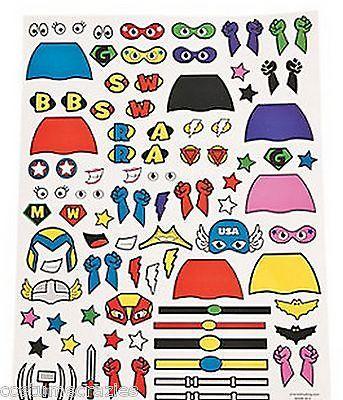 SUPERHERO-PARTY-Superhero-Balloon-Egg-Stickers-x-2-Sheets