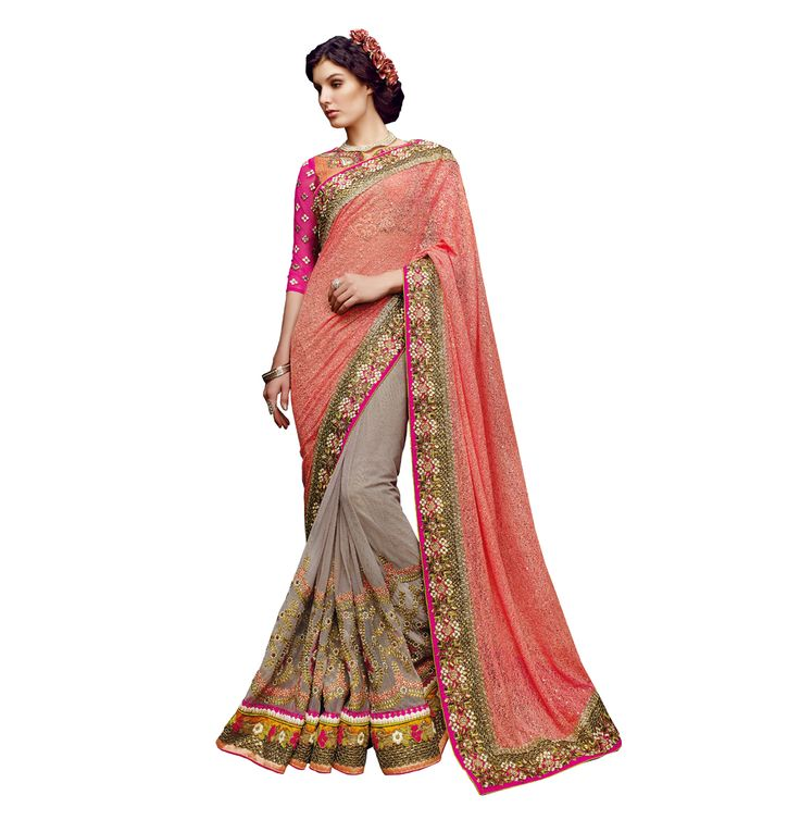 Buy Now Orange Designer Net Bridal Saree With Heavy Work Blouse only at Lalgulal.com  Price :- 8,683/- inr. To Order :- http://bit.ly/21YVzIm COD & Free Shipping Available only in India #sarees #weddingsaree #saris #weddingwear #bridalwear #halfandhalf #allthingsbridal #bridalsuits #ethnicfashion #celebrity #shopping #fashion #bollywood #india #indiafashion #bollywooddesigns #onlineshopping #designersaree #partywear #collection #designechoice #wedding #designer #womenswear