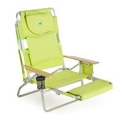 Want A Beach Chair That Has A Foot Rest For Reclining On Your Back And A