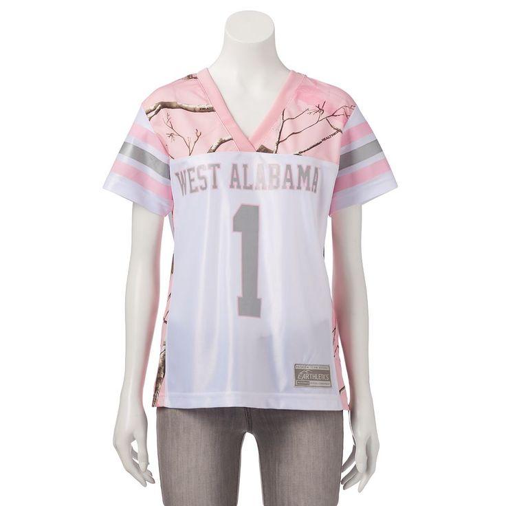 Women's Realtree University of West Alabama Game Day Jersey, Size: Medium, White