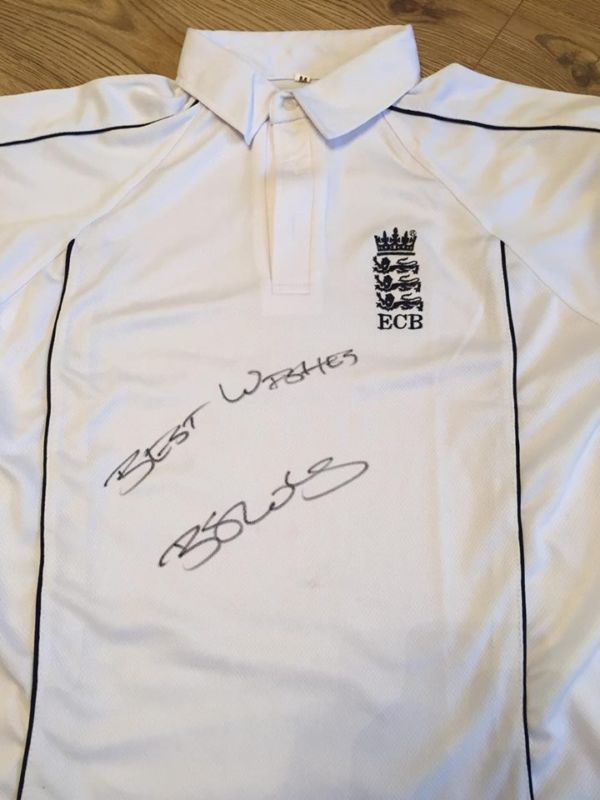 Ben Stokes Hand Signed England Cricket Shirt Proof Not Ball Bat