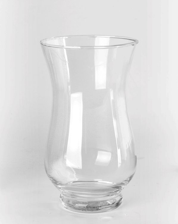 """Hurricane Vases - 7.5"""" Clear Glass Hurricane Vase.  Perfect for wedding centerpieces"""