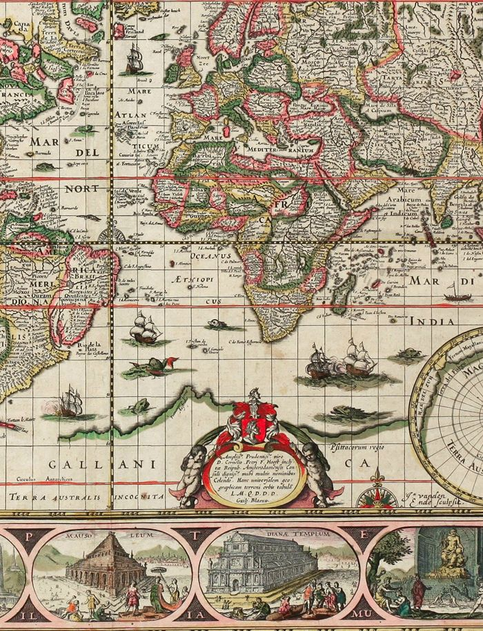 1056 best medeval maps images on pinterest cartography old old world map antique atlas 1640 gumiabroncs Image collections