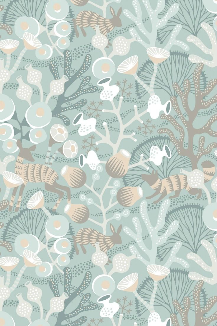 Beautiful new wallpaper design by Hanna Werning from the new Wonderland collection.