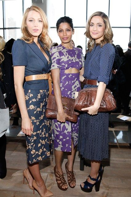 Blake Lively, Freida Pinto and Rose Byrne Michael Kors front row New York Fashion Week #Streetstyle #NYFW 2014