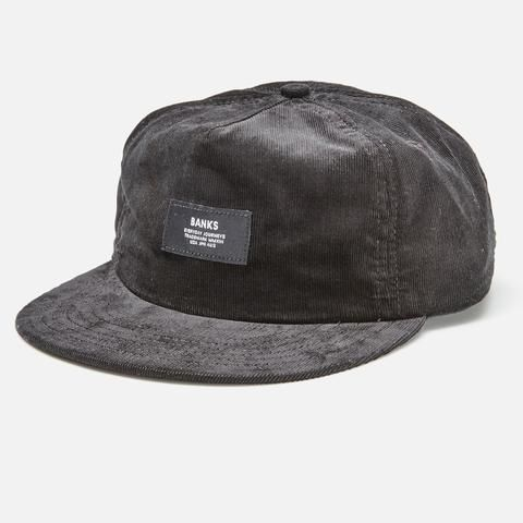 This corduroy cap is deconstructed just enough to be your favourite hat. Made in USA woven label.