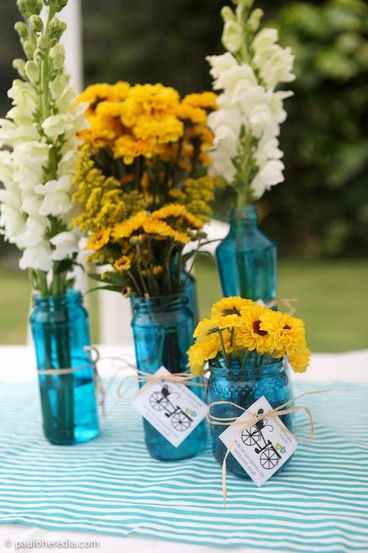 Casamento azul e amarelo, por Paulo Heredia.