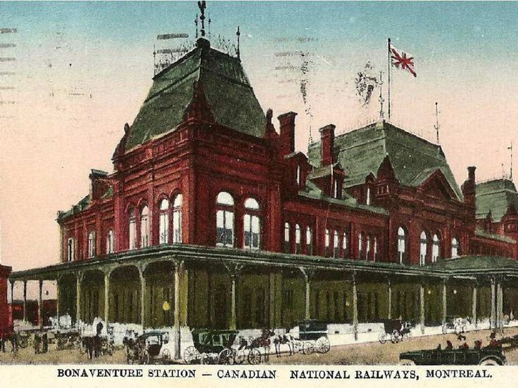 Postcard image of the Montreal's Bonaventure Station from the early 1900s. Courtesy of Robert N. Wilkins