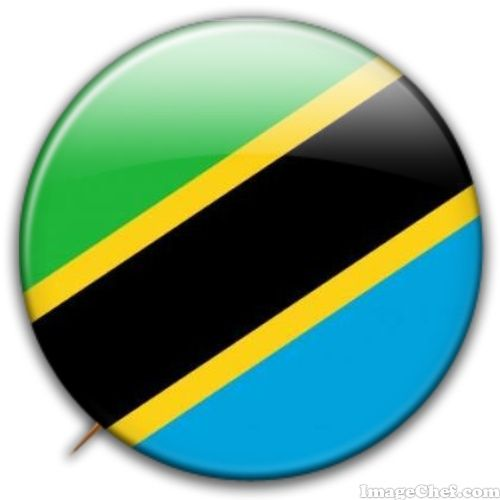 Tanzania flag badge