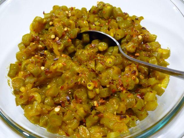 """Curried green bean salad - known as """"kerrieboontjieslaai"""" in Afrikaans."""