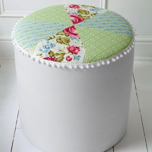 DIY:: Recycled Cylinder OttomanQuilt Ottoman, Africa Ideas, Cylinder Ottoman, Ottoman Tutorials, Ideas Magazines, Craft Ideas, High Dense Foam, Diy, Ottoman Feat