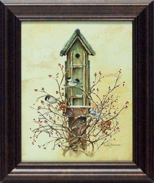 Winter home primitive still life wholesale framed art for Cheap framed art prints