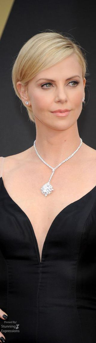 Charlize Theron wearing Harry Winston