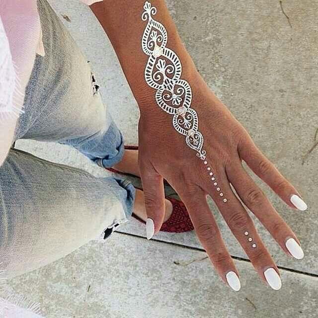 Metallic tattoo