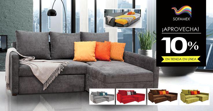 """En compras en línea o telefónicas, ¡el sofá cama Belice con un 10% de descuento adicional al precio de tienda ya rebajado! Sólo ingresa el código """"Belice 2015"""" al finalizar tu compra y obtendrás tu descuento (válido hasta el 30 de abril). Flete gratis en DF y área metropolitana. Cómpralo aquí: http://sofamex.mx/products/sofa-cama-belice"""