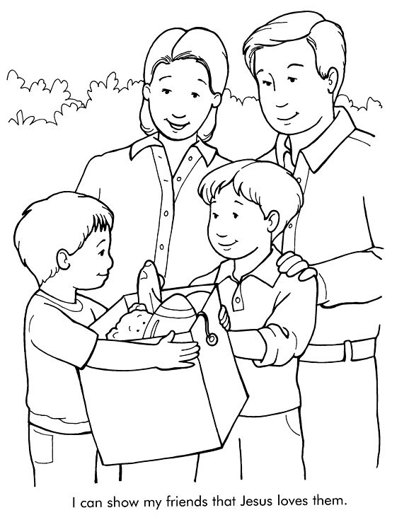 coloring pages children helping - photo#9