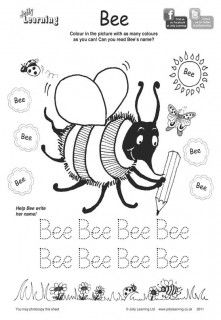 Free colouring sheets from Jolly Phonics
