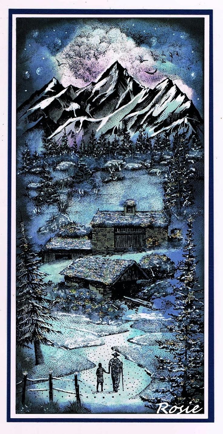 Rosie's Bastelwelt: Snowy Cottages