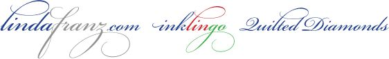 Inklingo prints designs for you to cut out. Saves time and fabric.