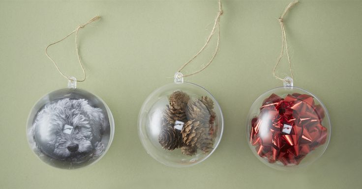 Add a personal touch to your tree with fillable baubles! There's plenty of room for all of your favourite things, so get started now in time for Christmas!