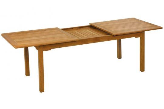 Tisch Burma aus Teakholz von Fischer Möbnel, ausziehbar  rechteckig, ca. 90 x 130/180 x 74 cm
