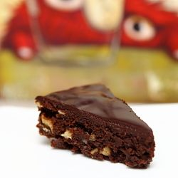 Brownie with granache topping