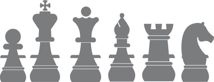 Sticker mural pièces d'échecs