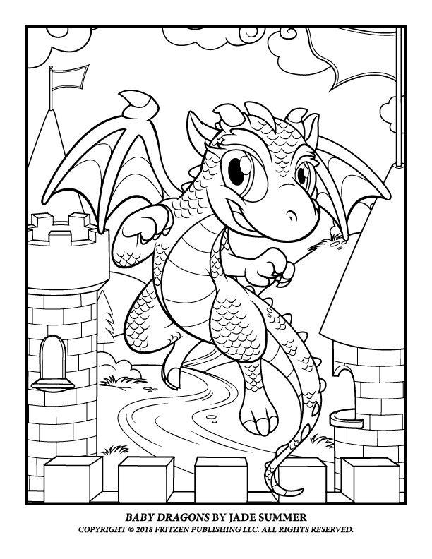 Baby Dragons Jade Summer Dragon Coloring Page Summer Coloring Pages Cute Coloring Pages