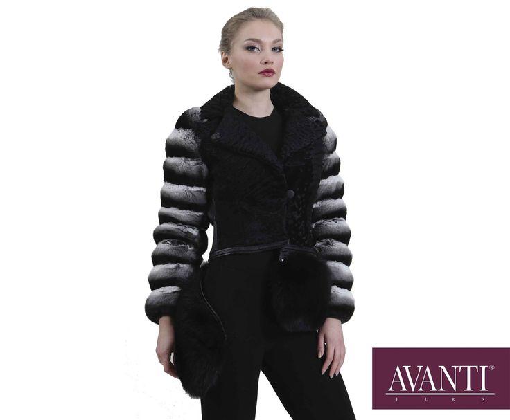 AVANTI FURS - MODEL: P-ERMIONI CHINCILLA JACKET with Swakara and Fox details #avantifurs #fur #fashion #mink #luxury #musthave #мех #шуба #стиль #норка #зима #красота #мода #topfurexperts