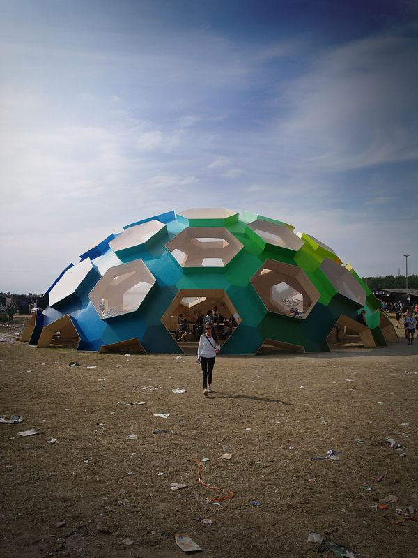 Plywood Geodesic Dome for Roskilde Festival 2012 | Inspirationist