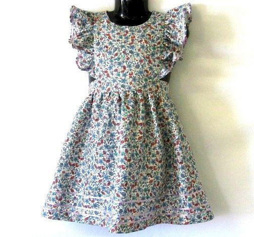 Girls Dress OOAK Vintage Inspired 'Alice in Wonderland' by ogekko, $40.00
