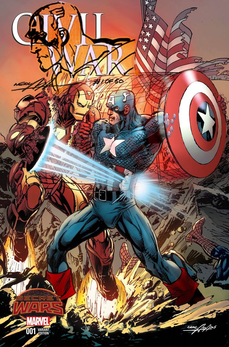 Captain America vs. Iron Man by Neal Adams *