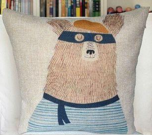 bear burglar cushion cover