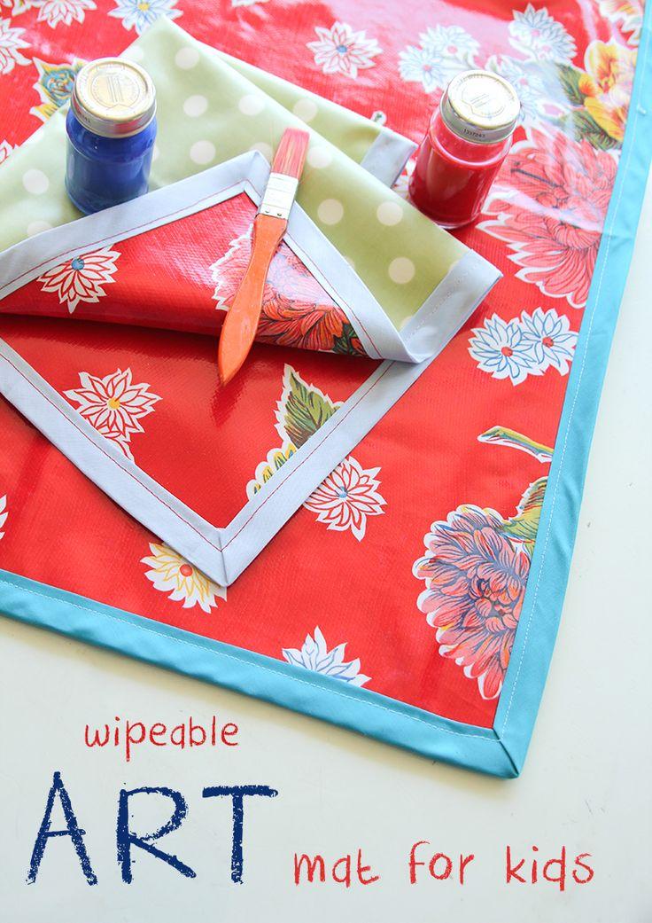 DIY Wipeable Art Mat Tutorial on iheartnaptime.com