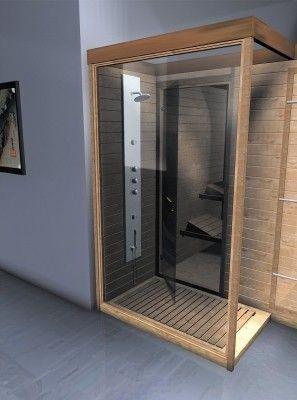 Doccia Sauna finlandese combinata In pregiata betulla