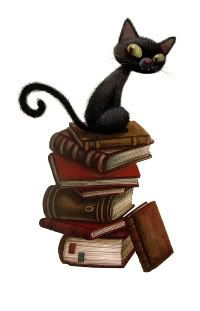 by Benjamin Lacombe - Books and cats. Love the birdfood shop or library with a cat.