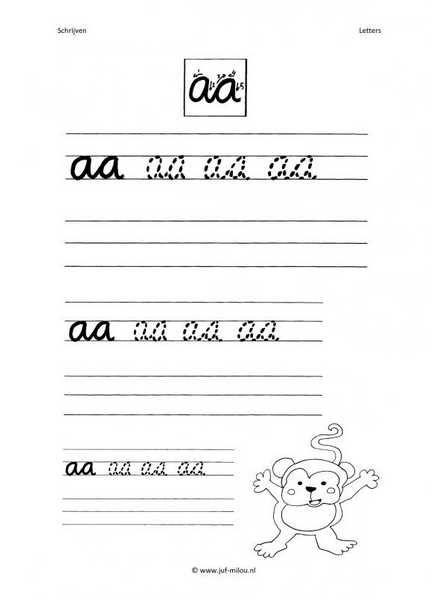 Letter aa schrijven