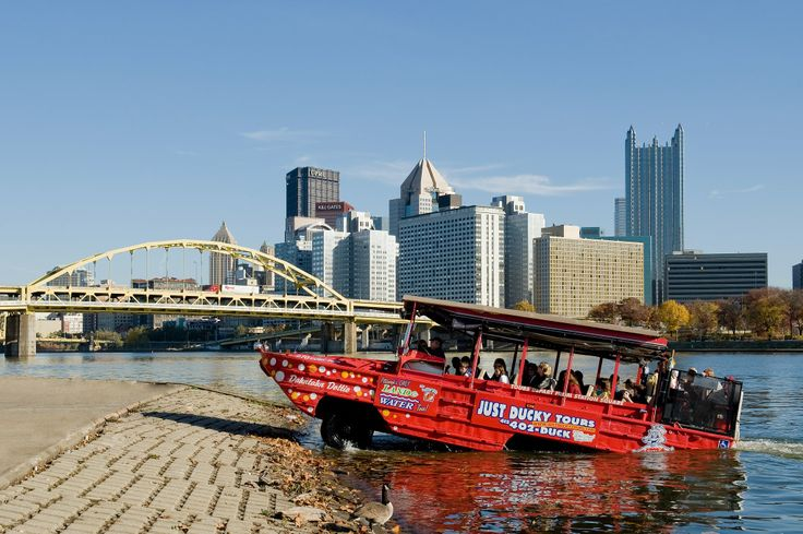 Just Ducky Tours in Pittsburgh, Pa., takes riders on Pittsburgh's only land and water adventure through the city! Visit seven days per week for spectacular views of the city and #adventure for the family.