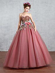 Színes menyasszonyi ruhák Földig érő Szív alakú Csipke / Tüll