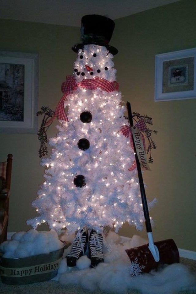Christmas tree idea. Cute