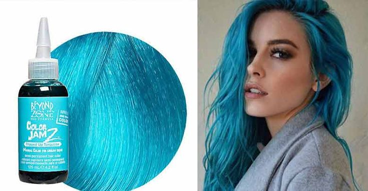 Turquoise Hair Dye color is it permanent? Blue, Dark tips on How to use