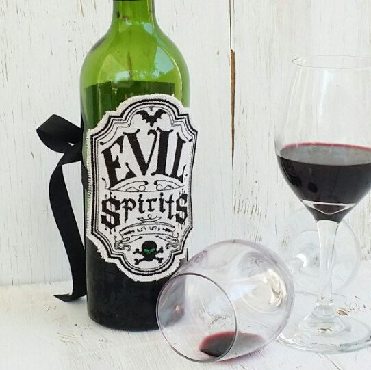 What a great Etsy listing at https://www.etsy.com/listing/474513785/apothecary-bottle-labels-evil-spirits