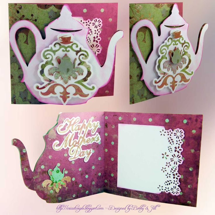 Cricut Happy Mother's Day Card. Damask Décor Cartridge.  *